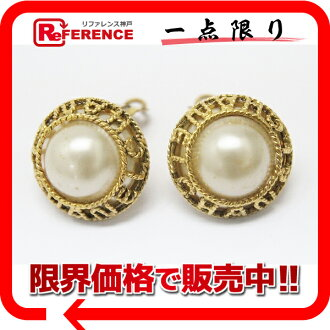 "Chanel 94A imitation Pearl Earrings gold ""response.""-fs3gm"