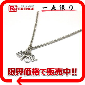 Dior logo necklace silver 》 fs3gm for 《