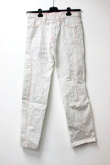 "Louis Vuitton Stephen Sprouse graffiti Womens pants 36 White x Fuchsia ""response.""-fs3gm02P05Apr14M"