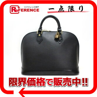 "Louis Vuitton EPI leather ""Alma"" handbags Creel black M52142 ""response.""-fs3gm02P05Apr14M"