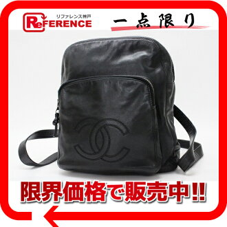 CHANEL calfskin rucksack black 》 fs3gm for 《