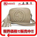 [GUCCI] Gucci SOHO (Soho) leather shoulder bag disco bag beige 308364-free [correspondence 》【 easy ギフ _ packing tomorrow comfortable used 】《]; is fs2gm fs2gm [free shipping]