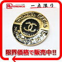 [CHANEL] CHANEL CC broach gold X black [correspondence  easy  _ packing tomorrow comfortable used ] fs2gm fs2gm