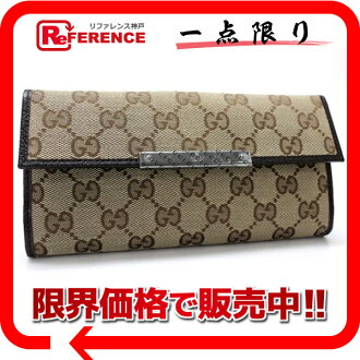 "Gucci METAL BAR (メタルバー) GG W hook length wallet beige x Brown 112715 unused ""response.""-fs3gm"