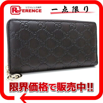 "Gucci GG PIERCE (Pierce GG) guccissima large zip around wallet dark brown 212110 still use ""response.""-fs3gm"