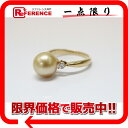 [JEWELRY] is fs2gm fs2gm as well as a recycling jewelry K18YG Golden pearl approximately 9.5mm diamond 0.16ct ring 11 new article [correspondence  easy  _ packing tomorrow comfortable used ] [free shipping] [KK]