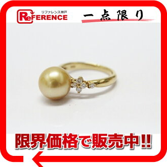 》 fs3gm for 《 as well as a recycling jewelry K18YG Golden pearl approximately 10.0mm diamond 0.23ct ring 12 new article