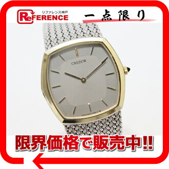 "Seiko credor men's watch オニキスリューズ SS×K14YG bezel quartz 5930-5392 s correspondence.""fs3gm"