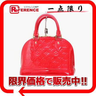 "LOUIS VUITTON Louis Vuitton Monogram Verni ""Alma BB"" 2-WAY handbag rougeglunadine M91698 unused used"
