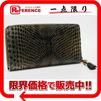 Gucci TASSEL (tassel) Python zip around wallet Brown of 224253? s support» fs3gm