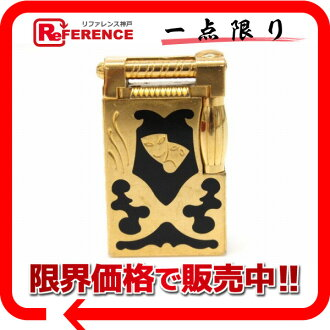 """ES-s.t. DuPont Teatro (Theatre) gas lighter in 1997 limited worldwide limited 2500 gold x black """"response.""""-fs3gm02P05Apr14M"""