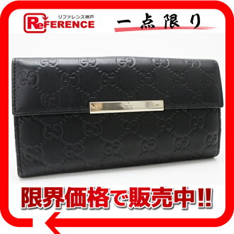 "Gucci METAL BAR (メタルバー) guccissima W hook length wallet black 112715 ""response.""-fs3gm02P05Apr14M"