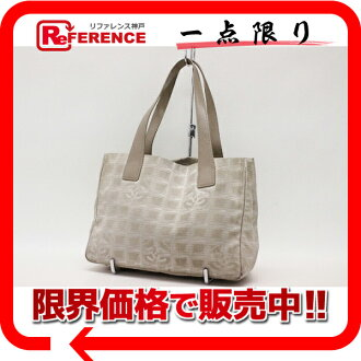 "Chanel Newt label line Tote PM beige ""response."""