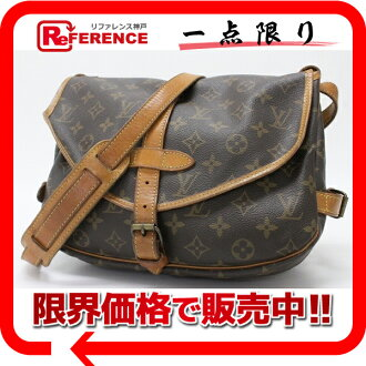 "Louis Vuitton Monogram shoulder bag ""Saumur 30"" M42256 ""response.""-fs3gm02P05Apr14M02P02Aug14"