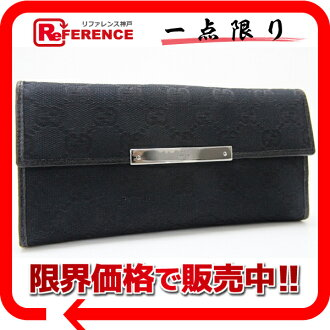 "Gucci METAL BAR (メタルバー) GG W hook length wallet black 112715 ""response.""-fs3gm"