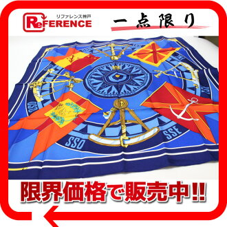 "》 fs3gm for 《 as well as an HERMES silk scarf ""boyfriend"" SEXTANTS( sextant) blue system new article"