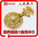 [CHANEL] CHANEL 94A imitation pearl broach gold [correspondence  easy  _ packing tomorrow comfortable used ] fs2gm fs2gm