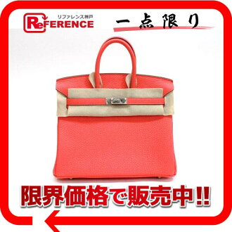 "☆ 2012 fall winter collection-hot air color ☆ Hermes Premier handbag Birkin 25 slope ローズリップスティック silver metal Q time ""response."""