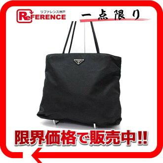 "Prada nylon tote bag Black Black B4681 ""response.""-fs3gm"