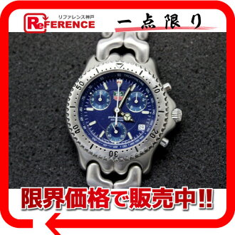 "Tag Heuer SEL chronograph professional 200 m men's watch SS blue character dial quartz CG1114 ""response.""-fs3gm"