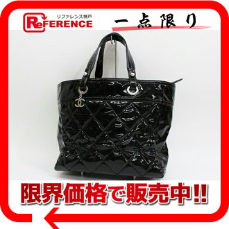 CHANEL Paris-Biarritz Enamel Tote Bag Black