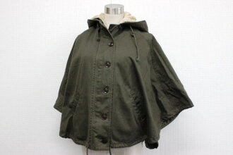 "Utilizing hooded poncho with ボアライナー M khaki ""response."""