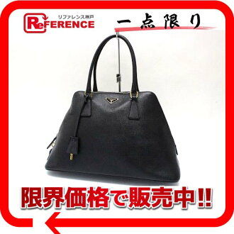 "Prada leather handbag black ""response.""-fs3gm"