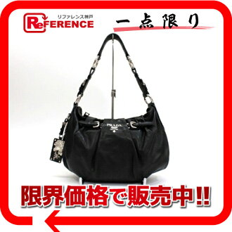 PRADA leather handbag black 》 fs3gm for 《