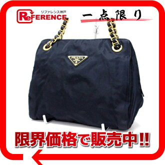 PRADA nylon chain shoulder bag navy dark blue 》 fs3gm for 《