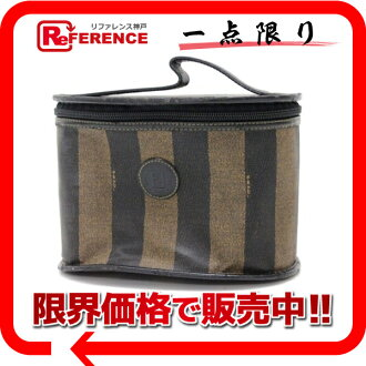 "Fendi Pecan vanity bag black x Brown? s support.""fs3gm"