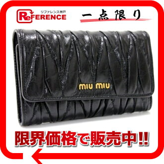 》 fs3gm for 《 as well as miu miu MATELASSE LUX( マテラッセリュクス) three fold wallet black 5M1097 new article