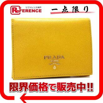 "Prada SAFFIANO MULTIC (サフィアーノマルティック) 2-fold wallet Mimosa (yellow) 1M0204 ""response.""-fs3gm"