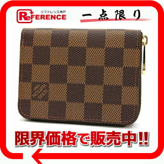 "Brand new Louis Vuitton Damier ""zippy coin purse"" coin purse N63070 as well ""response.""-fs3gm02P05Apr14M"