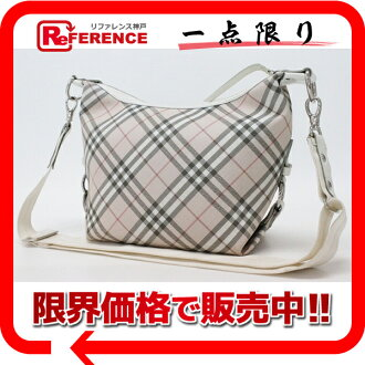 Burberry blue label nylon check shoulder bag pink system X ivory 》 fs3gm for 《