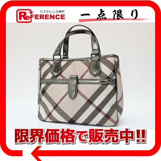 "Burberry Prorsum check tote bag beige * fs3gm metal ""support."""