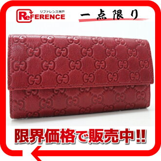 "Gucci guccissima fold long wallet red 257303 unused ""response.""-fs3gm"