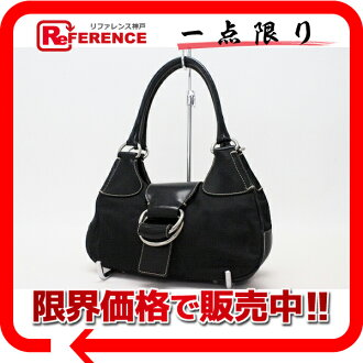 PRADA handbag nylon X leather black 》 fs3gm for 《