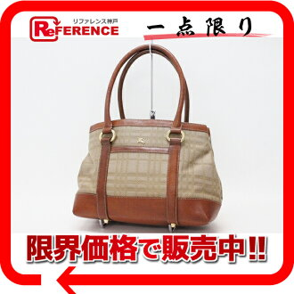 》 fs3gm of burberry check tote bag Brown line for 《