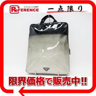 "Prada enamel gradient handbag silver x black s correspondence.""fs3gm"