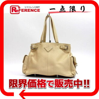 "Prada leather shoulder bag beige ""response.""-fs3gm"