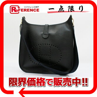 "Like Hermes Evelyn PM shoulder bag black gold metal Ardennes A ever-changing new ""support."""