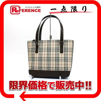 Burberry classical music check shoulder bag beige X brown 》 fs3gm for 《