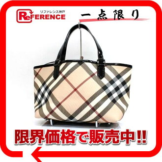 Burberry supermarket Novacek tote bag PVC X enamel beige system X black beauty product 》 fs3gm for 《