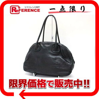 "Prada leather Boston bag black ""response.""-fs3gm"