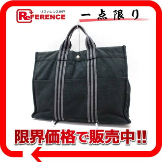 """Hermes thereto Tote MM black x grey? s support.""""fs3gm"""