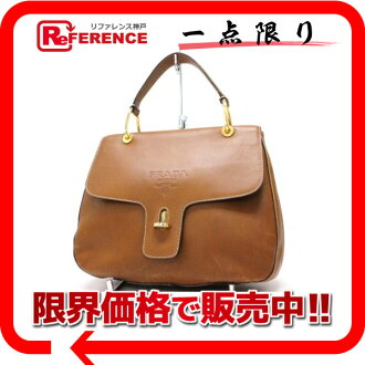 PRADA leather handbag brown 》 fs3gm for 《