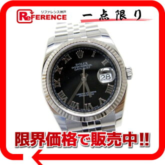 116234 Rolex date just men watch SS X WG self-winding watch V turn 》 fs3gm for 《