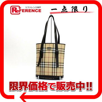 "Burberry London check classic bucket-type tote bag beige ""response.""-fs3gm"