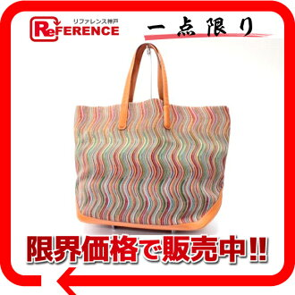"Hermes ""canoe"" tote bag vibrato multi-color / orange ""response."""