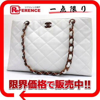 CHANEL caviar skin Wood style plastic chain tote bag white / natural system 》 fs3gm for 《